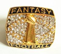 Wholesale Opal Drop Gold Plated - Drop shipping high quality fantasy football world championship ring