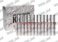 Wholesale Holiday Piece - Factory Direct DHL Free Shipping New Makeup Lip Kylie Cosmetics Limited Edition Holiday Edition Matte Liquid Lipstick!1 Set = 12 Pieces