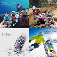 Wholesale Underwater Video Housing - Haweel Waterproof and Snowproof Phone Cover Case for Diving Housing Photo Video Taking Underwater Water Resistant 40M for Iphone 6 6s 7 Plus