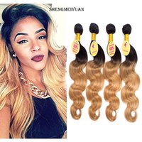 Wholesale Brazilian Remy Body Wave Products - Brazilian Virgin Hair Ombre With Closure Blonde Ombre rosa hair products Honey Blonde 4 Bundles With Closure Brazilian Hair