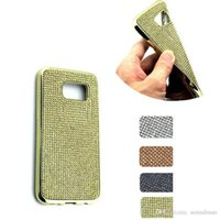 Iphone Sumsang Pas Cher-Diamant Bling Crystal Plating TPU Cas Pour iphone 7 6s 6 plus 5 Sumsang S7 bord OPP SAC