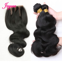 Wholesale Bundles Top Lace Closure - Brazilian Body Wave Virgin Hair Weaves 3 Bundles with Top Lace Closure Malaysian Peruvian Indian Cambodian Human Hair Extensions Closures
