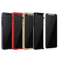 Wholesale iphone red screen protector - JOYROOM 360 Degree Full Body Protective Case Cover with Tempered Glass Screen Protector for Iphone X 8 8plus
