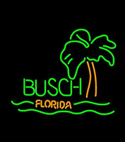 Wholesale Neon Busch Beer Signs - Fashion Handcraft Busch Florida Real Glass Beer Bar Display neon sign 19x15!!!Best Offer!