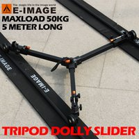 Wholesale Tripod Slider Rail - 50kg Payload 5m Portable Travle Aluminum Professional Camera Video Slider Tripod Dolly Track Rail Tracking Wheels Moving Car