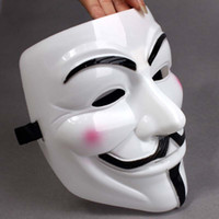 Wholesale vendetta halloween party masks for sale - Group buy Party Masks V for Vendetta Masks Anonymous Guy Fawkes Fancy Dress Adult Costume Accessory Plastic Party Cosplay Masks