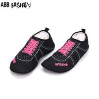 Wholesale Wholesale Swim Shoes - Wholesale-Hot Sale Women Men Flats Sandals Shoes Swimming Shoe Shoelace For Unisex Summer Spring Autumn Solid Color Comfort Breathable 077