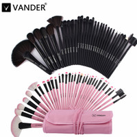 Wholesale Makeup Brushes 32pcs Pink - Professional Bag of Makeup Beauty Pink Black Cosmetics 32pcs Make Up Brushes Set Case Shadows Foundation Powder Brush Kits