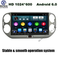 Wholesale 10 inch HD Android for Volkswagen VW Tiguan SUV car dvd player with GPS G G WIFI BT radio SWC stereo free map