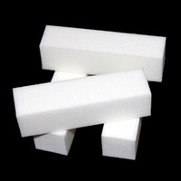 Wholesale sanding block - 10 Nail Art Buffer File Block Pedicure Manicure Buffing Sanding Polish White Makeup Beauty Tools