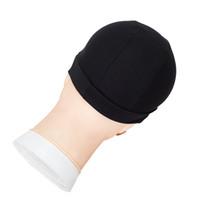 perruques élastiques achat en gros de-3 Pcs / Lot Noir Mode Filets À Cheveux Top Qualité Noir Élastique Nylon Hairnet Perruque Faisant Caps Taille Libre Stretch Dôme Weave Cap 18g / Pcs