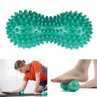 Wholesale Wholesale Point Sale - Wholesale-2016 Hot Sale Peanut Shape Spiky Massage Yoga Ball PVC Trigger Point Therapy Stress Relief Massager