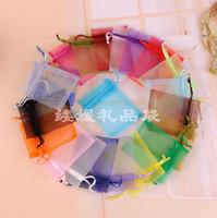 organza drawstring geschenk taschen großhandel-Heiße Verkäufe! Multicolor 100 PCS mit Drawstring Organza-Geschenk sackt Gaze-Süßigkeit ein Beutel geben Verschiffen frei