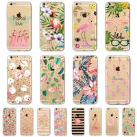 Wholesale Defender Tpu - Cell Phone Accessories Cases 2017 fashion Geometry Painting Flamingo Pattern Effect Case Cover Defender For iPhone 5S 6 6s plus 7 7Plus