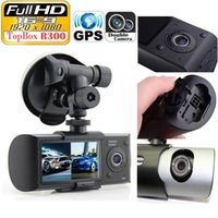 """Wholesale Camcorder 3d - Dual Camera Car DVR R300 with GPS and 3D G-Sensor 2.7"""" TFT LCD X3000 FHD 1080P Cam Video Camcorder Cycle Recording Digital Zoom"""