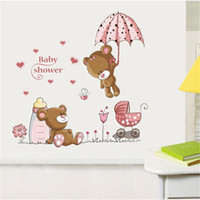 Cute Bear Vinyl amovible Kindergarten Nursery Kids Baby Child Room Décoration Décoration Art Mural Autocollants muraux Stickers muraux