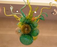 Wholesale Cheap Chihuly - 100% Mouth Blown Borosilicate Cheap Led Lamps Fancy Pendant Light Dale Chihuly Style Home Decor Hand Blown Glass Chandelier Crystals