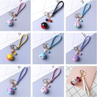 Wholesale Cool Chain Europe - VERY cool Bells Car Keychain Creative Gift Leather Rope Key Pendant Key Chain Pendant R198 Arts and Crafts mix order