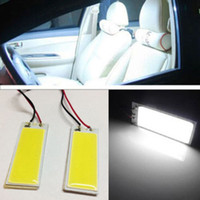 Wholesale 12v Led Cob Panel Lights - 2Pcs Automobiles Xenon HID 36 COB LED Dome Map Light Bulb Car Interior Panel Lamp 12V 5500K-6000K Car-styling T10 BA9s Adapter