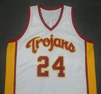d567bfff4 Brian Scalabrine White Mamba USC Trojans College Basketball Jerseys Men  White Blue Embroidery Stitched Custom Any Number and Name Jersey ...