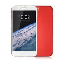 Купить Недорогой Wifi Nano-Дешевые Red 5,5-дюймовый Goophone i7 Plus 3G WCDMA Quad Core MTK6580 1GB 8GB + 32GB Android 6.0 GPS WiFi 13.0MP камера Nano Sim Card Смартфон
