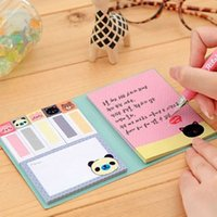Großhandel-1 PCS Korea Briefpapier Mode Kawaii Tier A6 Größe Haftnotizen Notizblock N Times Aufkleber Bookmark Memo Flags Index Pad