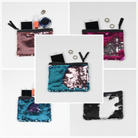 Wholesale Bag Cosmetic Coloured - Sequins Mermaid Purse Gradient Color Wallet 12 colors Christmas Festive Gifts Cosmetic Bag Change colour Coin purse Party Bag Free DHL