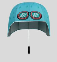 Hot Sale Children Creative Helmet Umbrella Kids Funcional Sun Rain Irregular Design Umbrella Boys and Girls Frete Grátis