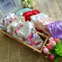 Wholesale Good Quality Wholesale Panties - 5pcs lot Good Quality 100%Pure Silk Panties Women 100% Mulberry Silk Briefs Low-waist Lingerie g string Free Shipping