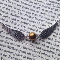 Wholesale Golden Chains Wholesale - 12pcs lot HP golden snitch necklace silver tone