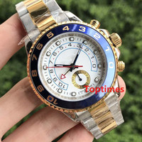 Wholesale Rose Gold Ruby - Sweep Hand Luxury Brand Yellow Rose Gold Silver Stainless Steel Master Automatic Mechanical Fashion geneva Watch Mens men Business Watches