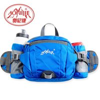 Wholesale Outdoor Exercise Bikes - Wholesale- AONIJIE Free-riding nylon multi-function outdoor running bag pockets bike bottled water bag climbing exercise waist xx016