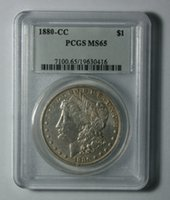Wholesale Black People Money - Wholesale Hot Selling PCGS 1880-CC MS65 Morgan  1880 79-CC MS63 One Dollar Coin  FREE SHIPPING