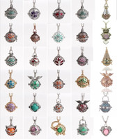 Wholesale Wholesale Bead Europe - Mix Pendant Bola Openable Hollowed cages European Charm Pregnant Necklaces Angel Ball Bola Europe Music Beads
