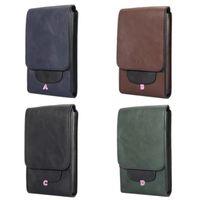 Wholesale Iphone Money Purse - 6.3inch Phone Wallet Leather For Iphone X 8 7 Plus 6 Plus Galaxy S8 Plus Fashion Card Slot Flip Cash Hip Waist Belt Clip Pouch Purse Money