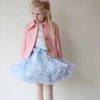 Wholesale 28 Gowns - 0-10T Baby Girls Tutu Skirts Bow Gauze Fluffy Pettiskirts Tutu Princess Party Skirts Ballet Dance Wear 28 Colors High Quality