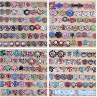 Wholesale Hot High quality Mix Many styles mm Metal Snap Button Charm Rhinestone Styles Button rivca Snaps Jewelry NOOSA button