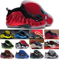 Wholesale Glitter Colours - 32 Colours (With Box)New Model High Quality Penny Hardaway Red Suede Men's Basketball Sport Footwear Sneakers Shoes