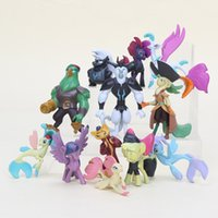 Wholesale Princess Dogs - 12pcs lot 4-6CM Palace Pets horse PVC Action Figures Princess Pet unicorn Cats Dogs Figures Kids Toys for Boys Girls