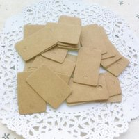Wholesale-100Pcs DIY Blank prezzo Hang tag Kraft Regalo Brown Kraft Tag di carta Etichetta Bagagli Nozze Note + String