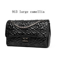 Wholesale Camellia Shoulder Bags - factory brand handbag classic small fragrant series of lovely Camellia woman embossed leather shoulder bag womens fashion leather shoulder