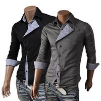 Wholesale Xxl Mens Knit Cardigan - Wholesale- 2014 New Spring Autumn Plaid Front fly Fashion Cardigan Mens Sweaters Slim fit Shirts Casual Outerwear Man Clothing M-XXL