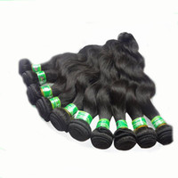 Wholesale Hot Black Weaves Brazilian - Hot Sale Human Hair Weaves Brazilian Hair Extensions Body Wave 8 pcs lot 12-30 in Stock Brazilian Body Wave Human Hair Quality Assurance