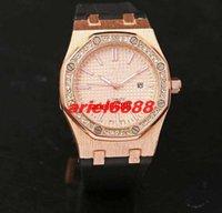 Wholesale Diamond Offshore - Luxury brand diamond bezel watch quartz movement stopwatch rubber belt man watch the royal offshore operating system
