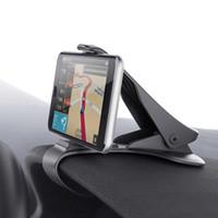 ingrosso cella di navigazione gps-Supporto di navigazione GPS universale per cruscotto auto regolabile Supporto per telefono cellulare regolabile Supporto per clip per iPhone Samsung Smartphone