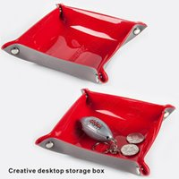 Wholesale Folding Pvc - Creative desktop storage box,storage tray,Storage Boxes,PVC creative storage tray, Home - Storage 4 colors.