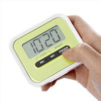 Wholesale Clip Timer Wholesale - LCD Digital Timer Kitchen Cooking Countdown LCD Display Timer Clock Alarm With Magnet Stand Clip With Retail Package Drop Shipping