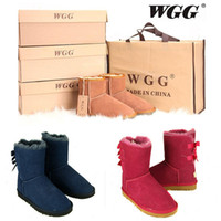Wholesale Mesh Fabric High Heels - 2017 High Quality WGG Women's Australia Classic tall Boots Women girl boots Boot Snow Winter boots fuchsia blue leather shoes US 5--10