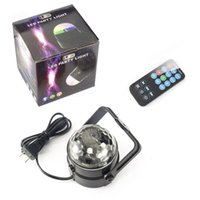 Wholesale Magic Crystal Ball Led Remote - Led DJ Disco Light 3W RGB LED Crystal Magic Ball Light Sound Activated LED Stage Lights with Remote for Party Christmas Wedding KTV Bar Club