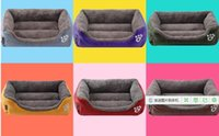 Wholesale 2017 Pet supplies factory direct selling candy color square Teddy dog nest pet nest dog bed
